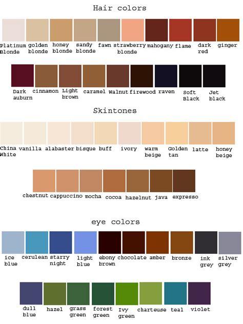 color reference color reference by applestruddles on deviantart