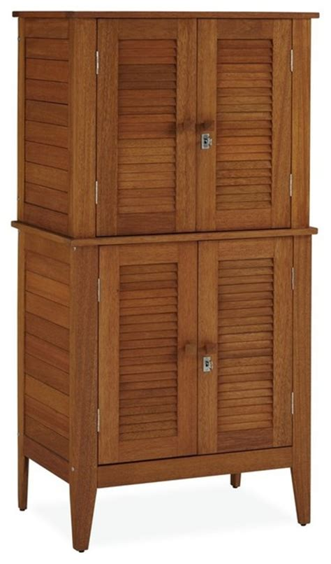 Deck Storage Cabinet Montego Bay 4 Door Multi Purpose Storage Cabinet Transitional Deck Boxes And Storage By