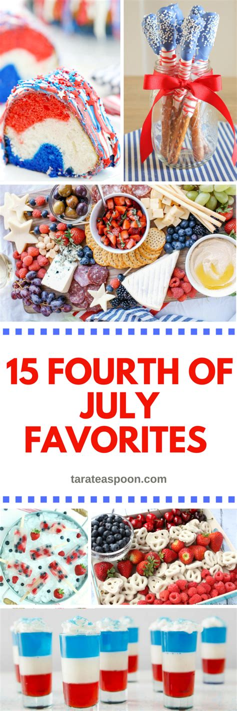 fourth of july favorites the 15 fourth of july food favorites tarateaspoon