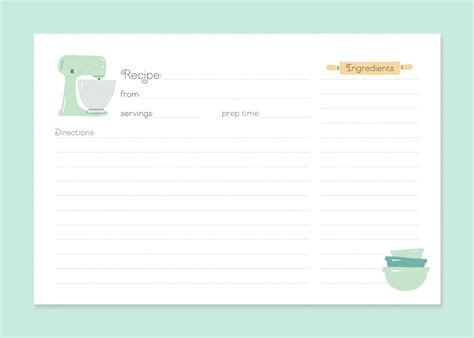 Esl Recipe Card Template by Printable Recipe Card Template Cards Word Spitznas Info