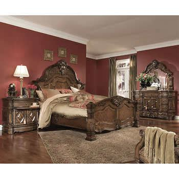 bedroom pieces ellington 6 piece queen bedroom set
