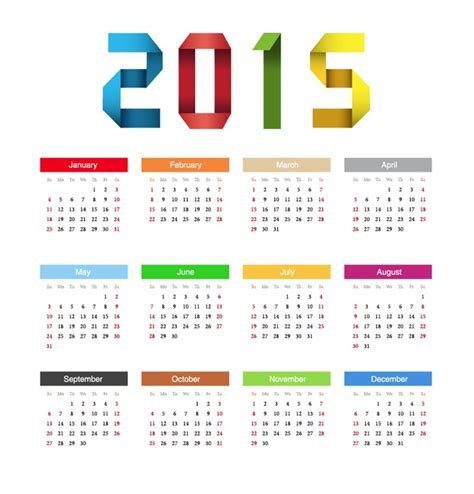design new year calendar 2015 happy new year calendar vector free vector graphics