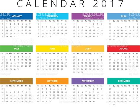 Calendar Week Calendar 2017 Week Starts Sunday Calendar Grid With