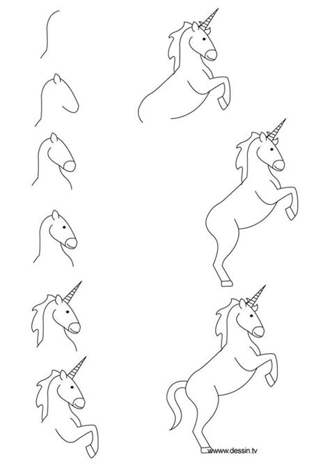 step by step step by step unicorn drawing best 25 how to draw unicorn