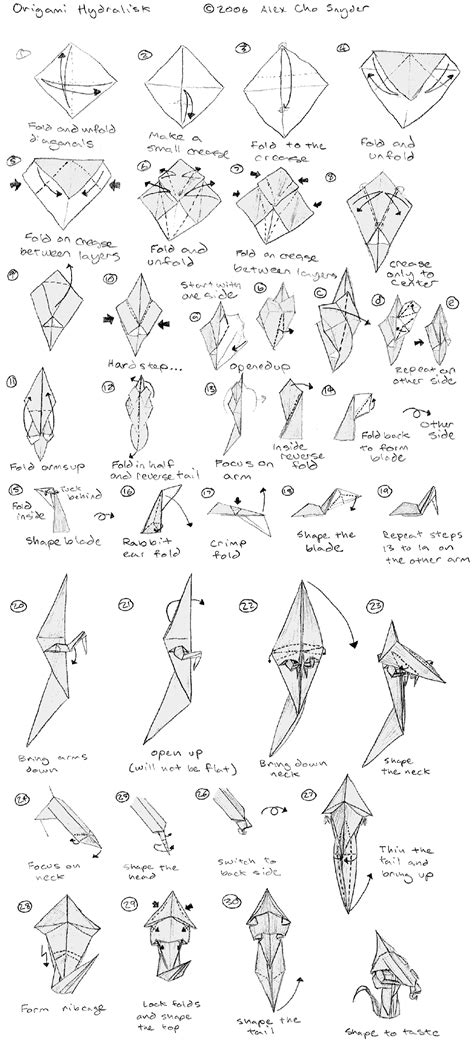 Origami Hydralisk - origami hydralisk by axcho on deviantart