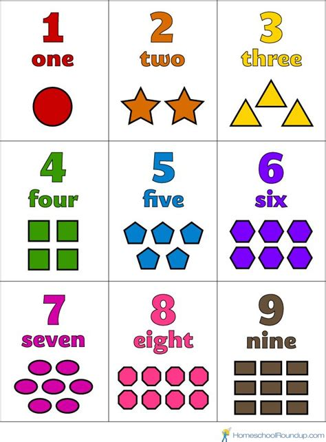 small printable numbers 1 10 printable numbers 1 10 that you can color with objects