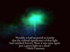 symbolism great gatsby quotes the green light on pinterest the great gatsby gatsby
