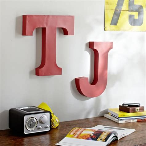 Metal Wall Letters Home Decor by Metal Wall Letters Pbteen