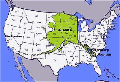 map of america showing alaska alaska limousine service map