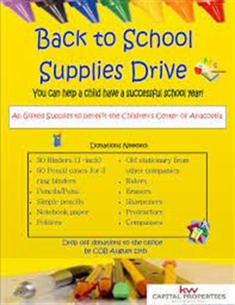 1000 Images About Bcsd Graphics On Pinterest Free School Supply Drive Flyer Template