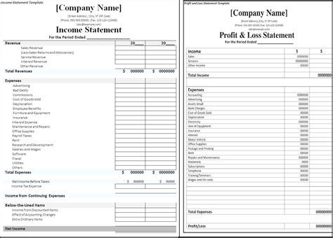 income and expense statement template excel what does a profit and