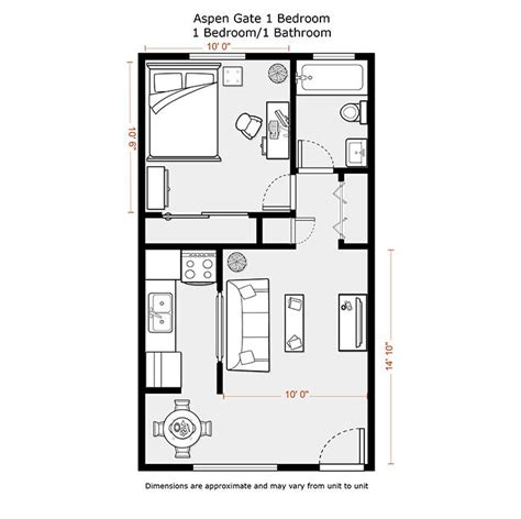 1 bedroom garage apartment floor plans 1 bedroom apartment floor plans 500 sf du apartments