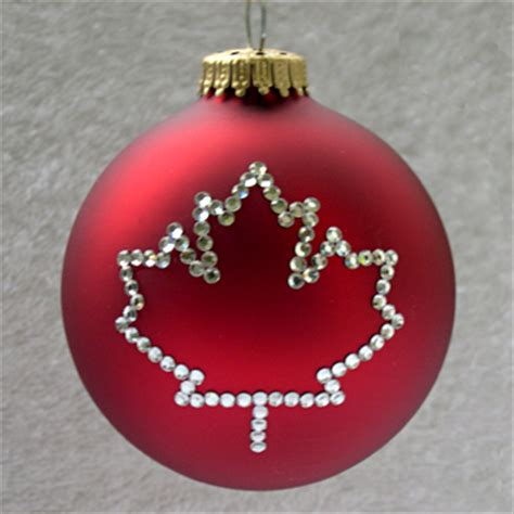canadian maple leaf ornament christmas tree ornaments