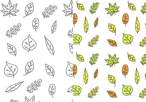 pattern vector leaf free leaves pattern vector download free vector art