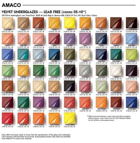 amaco underglazes amaco velvet underglaze chart search resource
