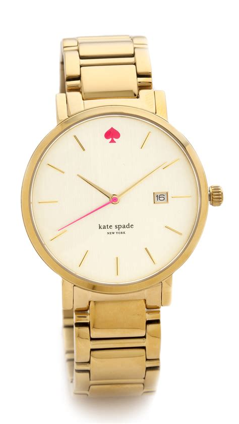 Kate Spade Gramercy Grand Bracelet Watch   Gold in Gold   Lyst
