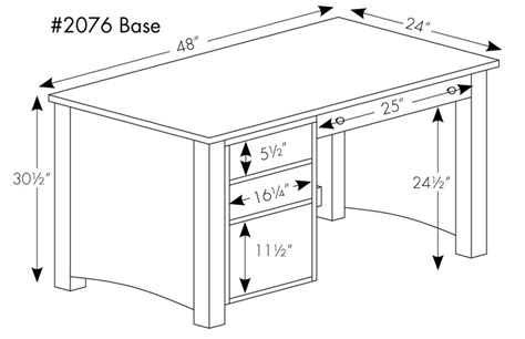 average desk size standard office desk dimensions