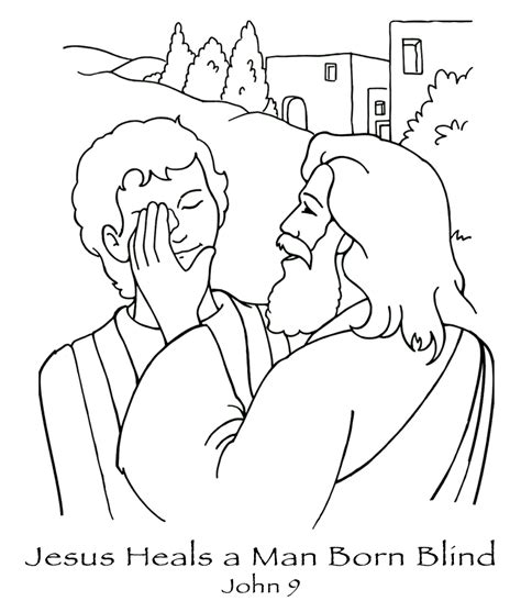 sunday school coloring pages jesus heals the sick free coloring pages printable jesus heals the blind man