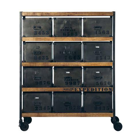 Cabinet De Rangement by Cabinet De Rangement Indus 224 Roulettes En M 233 Tal Noir L 127