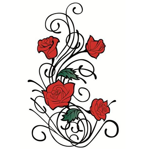 yeeech temporary tattoos sticker for women fake rose red