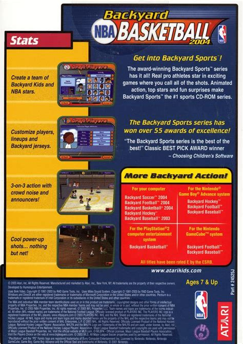 backyard basketball 2004 box for pc gamefaqs