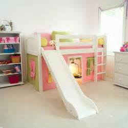 Bunk Bed With Stairs And Slide Appealing Princess Castle Through Bunk Beds With Stairs And Slide Bedroom Design Ideas