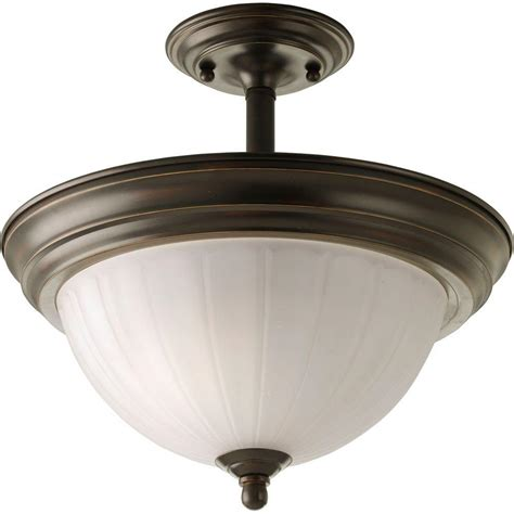 progress lighting 2 light antique bronze semi flush mount