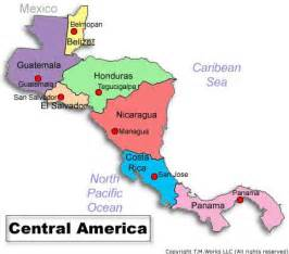 map of central and south america with capitals 301 exploring central america