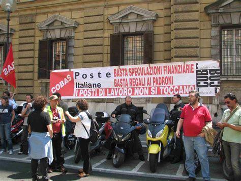 sede poste italiane roma manifestazione sindacale alla sede provinciale di poste