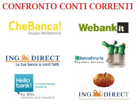migliori banche on line conto corrente on line conti correnti bancari a confronto