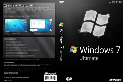 themes for windows 7 ultimate clock windows 7 ultimate black dvd by yaxxe on deviantart