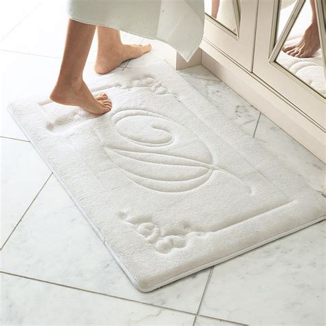 Bath Mat In by Monogrammable Memory Foam Rug Traditional Bath Mats
