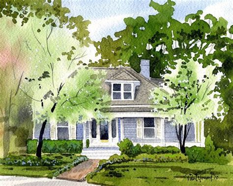 house portraits custom 8x10 watercolor home house portrait painting