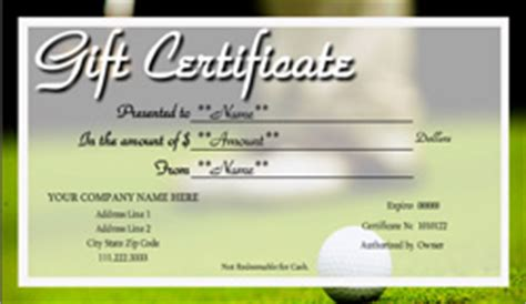 tennis gift certificate template golf gift certificate templates easy to use gift