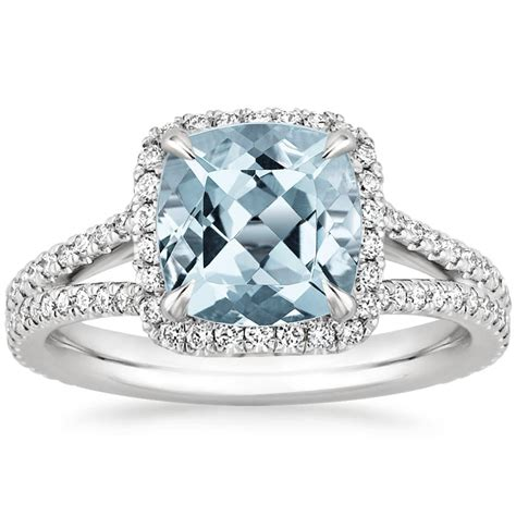 aquamarine fortuna ring in 18k white gold brilliant earth
