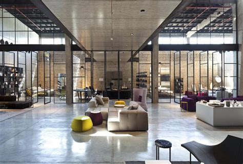 Industrial Furniture Store by B B Italia Store By Pitsou Kedem Architects Tel Aviv