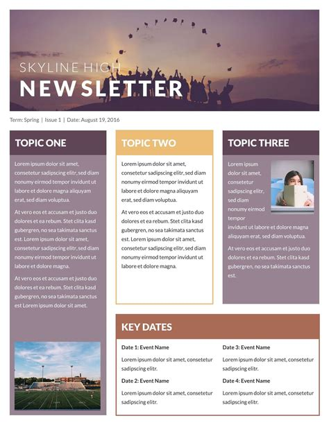 high school newsletter templates free school classroom newsletter templates lucidpress