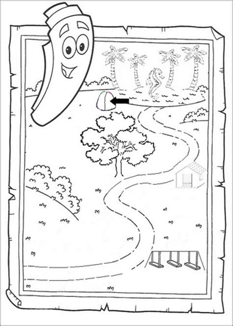 dora coloring pages map dora birthday party using ms paint the worst editing