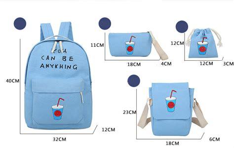 Lettering Canvas Backpack korean fresh printing letters canvas backpack schoolbag