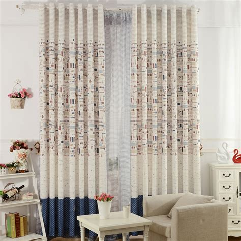country living room curtains with plane patterns for