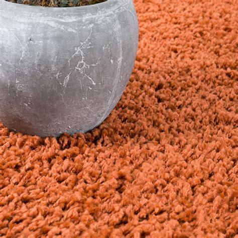 Tas Tapis Bordir 7 shaggy 224 poils longs tapis moderne salon tapis monochrome cuivre ebay