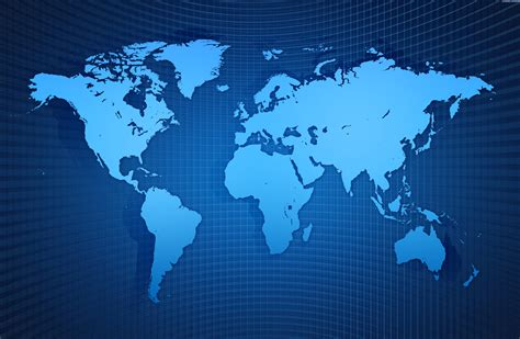 Blue World Map Free Ppt Backgrounds For Your Powerpoint Templates World Map Powerpoint Background