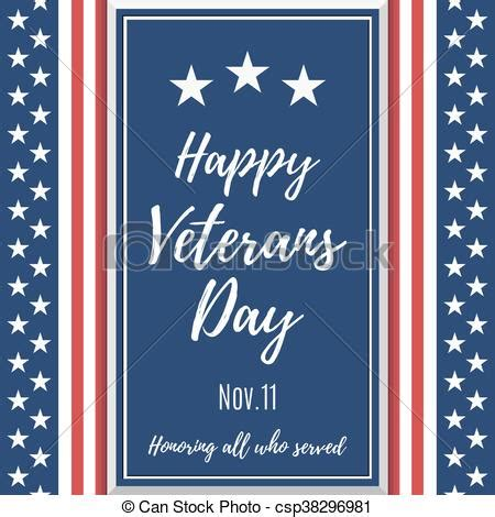 Vector Of Happy Veterans Day Background Poster Or Brochure Template Csp38296981 Search Happy Veterans Day Template