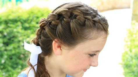 cute girl hairstyles knot double knotted braids cute girls hairstyles