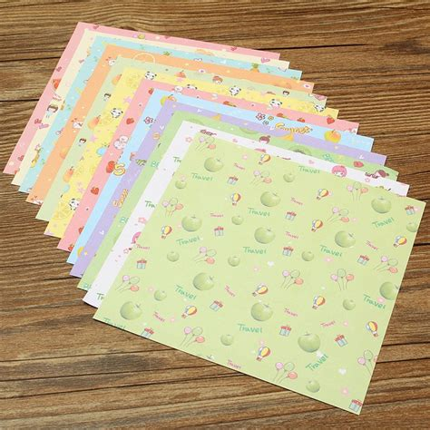 Square Craft Paper - 72pcs set square floral pattern origami paper single