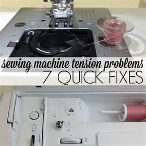 sewing machine troubleshooting repair sewing machine tension problems fixes