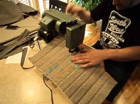 How To Sew Car Upholstery by Seat Upholstery Part 1 Vw Karmann Ghia