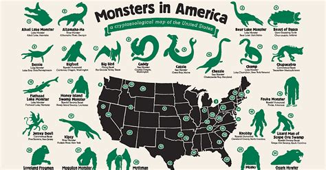 america in map my map shows where legendary monsters hide in america