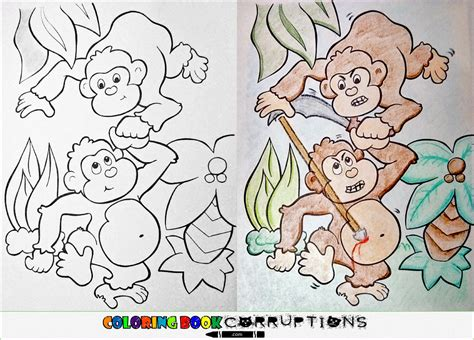 coloring book corruptions monkey coloring book corruptions