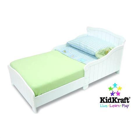 kid craft bed kidkraft nantucket wood toddler bed in white 86621